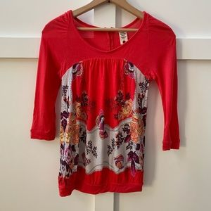 Free People Tops - free people butterfly floral top